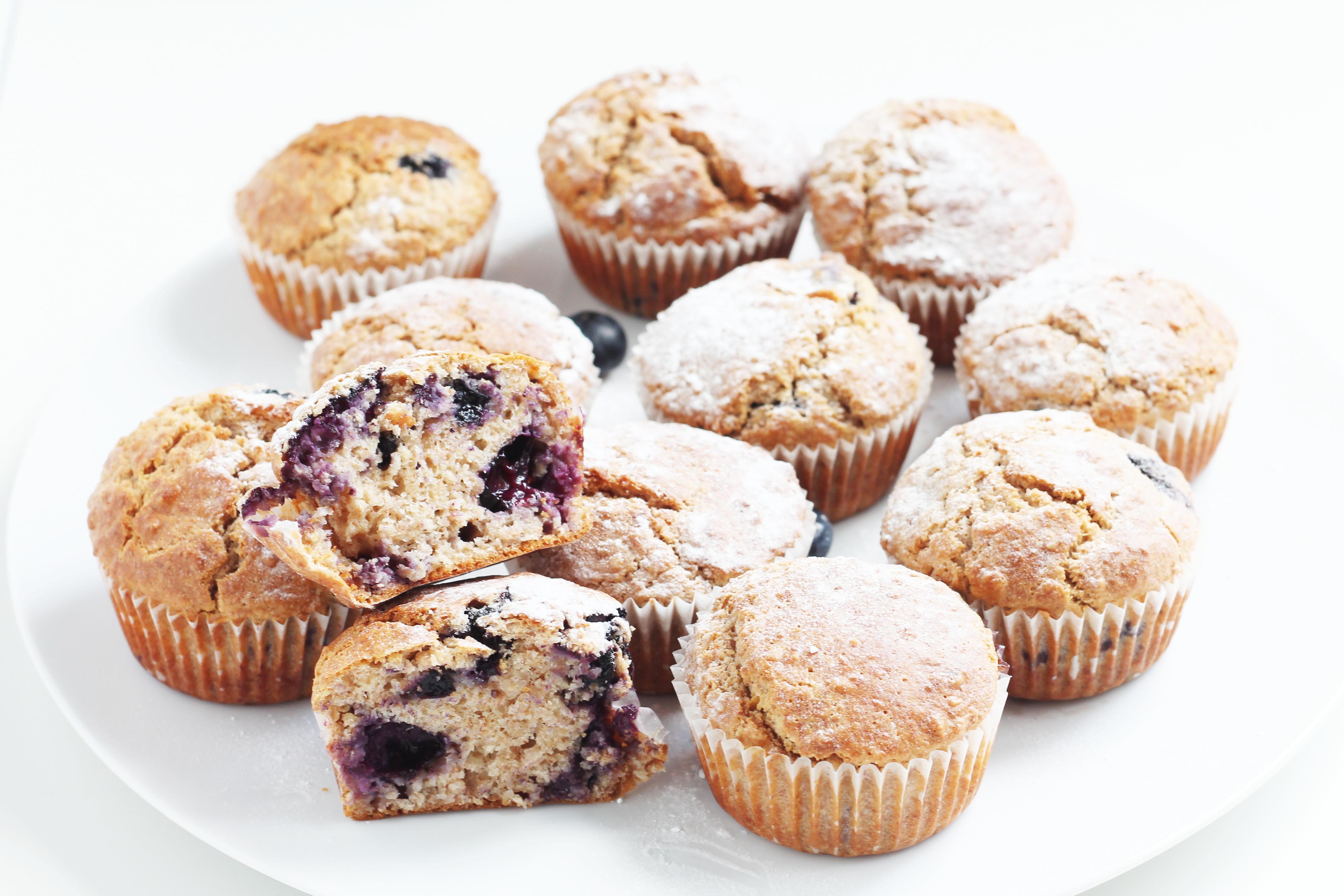 Gesunde Blueberry-Muffins