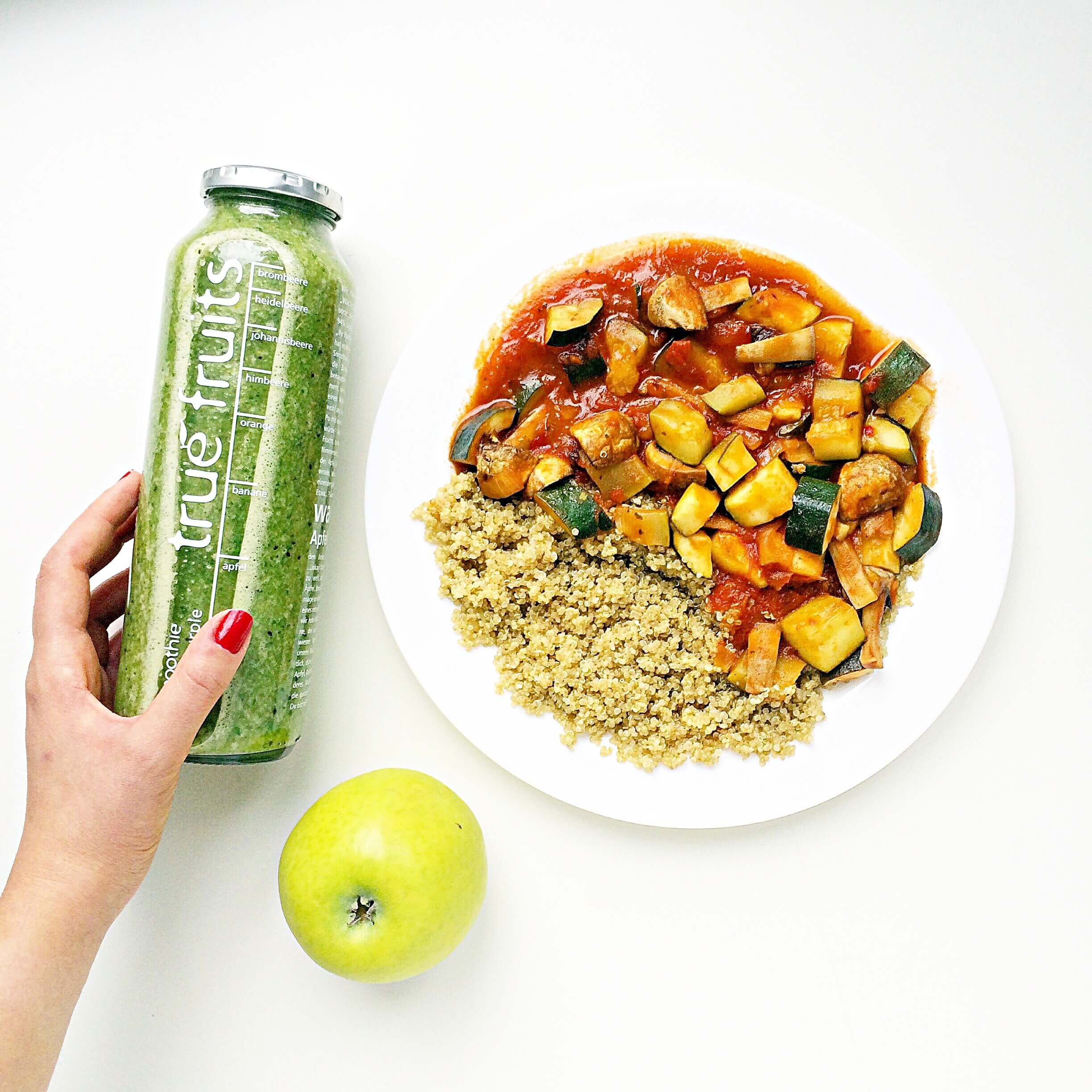 coucous_green_smoothie_lunch_idea_lecker