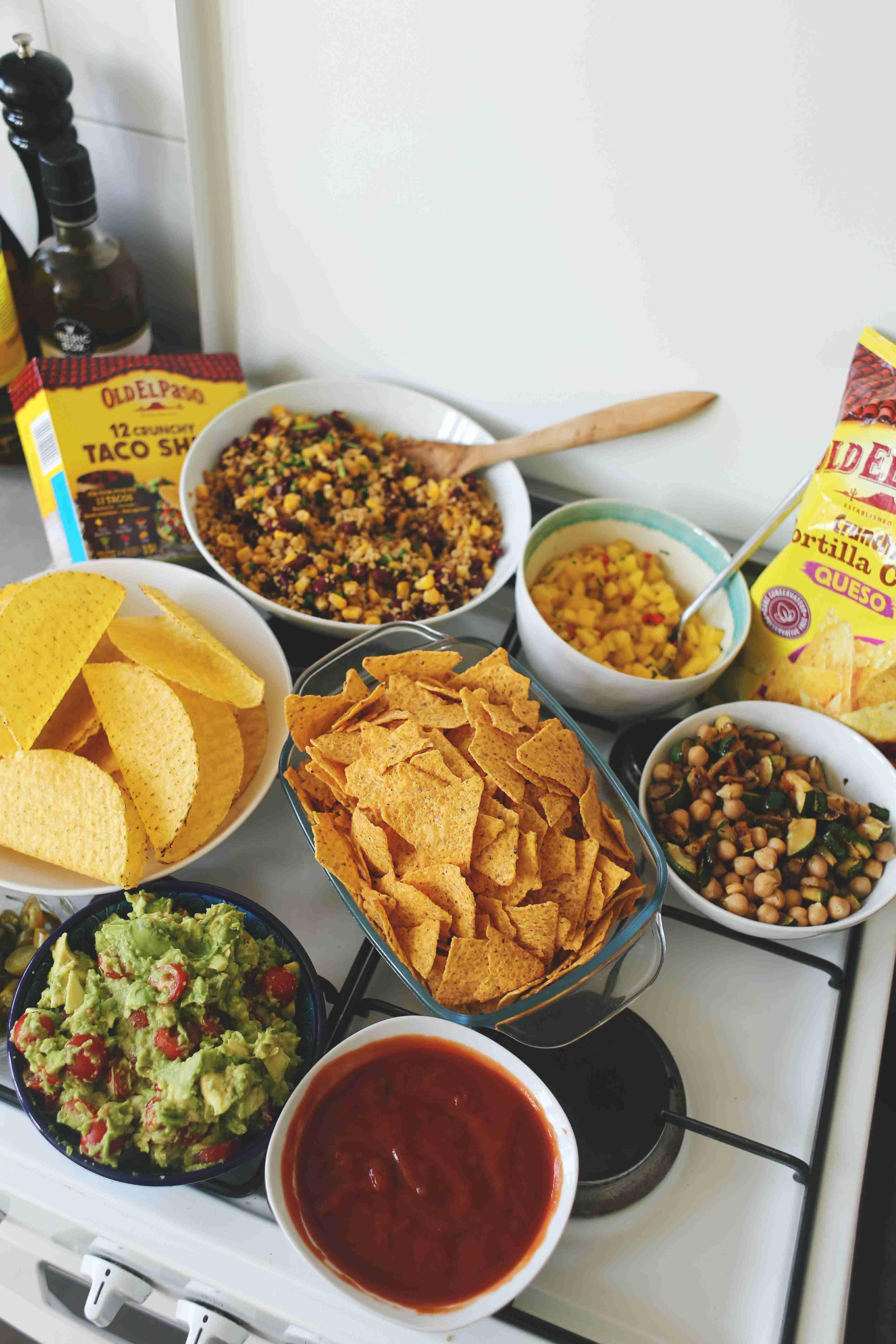 Veggie Tacos & Tortillas // Mexican Dinner mit Old El Paso